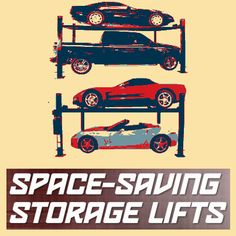 UniteAmerica Space Saving Automotive Lifts 4 Post Lift, Space Saving, Storage, Kids, Purse Storage, Young Children, Boys, Larger, Children