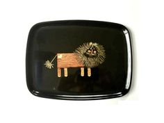 Couroc of Monterey Whimsical Lion Tray.  by GatewayHeirlooms