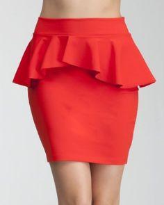 bebe peplum skirt