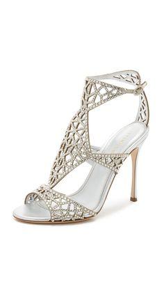 Sergio Rossi: http://www.stylemepretty.com/2016/01/31/beautiful-bridal-wedding-shoes/ #sergiorossibridal #sergiorossiflats #sergiorossinewyorktimes #sergiorossi2016