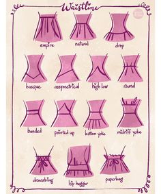 Skirt types fashion vocabulary ideas Source by saishi fashion drawing Fashion Design Drawings, Fashion Sketches, Fashion Drawing Dresses, Fashion Dresses, Drawing Fashion, Kleidung Design, Fashion Terms, Fashion Hacks, Fashion Ideas