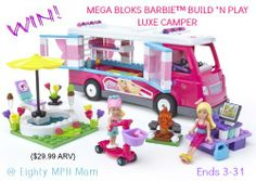Mega Bloks Barbie Build 'n Play Luxe Camper Review and Giveaway (ARV $29.99) Ends 3/31