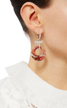 Diamond Dragonfly Jasper Earrings by LAURA PIERSON for Preorder on Moda Operandi