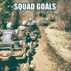 Quad goals instead of squad goals. Hahahah