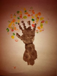 birthday crafts for one year olds | ... autumn tree the one pictured here was from the 1 year old so i did