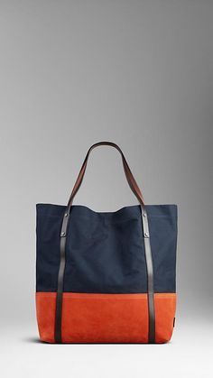 Burberry tote - simple color blocking and on trend colors for 2015.