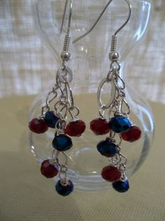 Cobalt Blue and Deep Red Holiday Sparkle by GailardiaDesigns