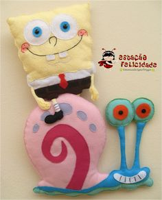 A variety of SpongeBob SquarePants and other toys