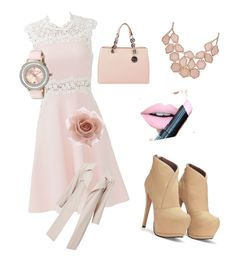 """pink sessionc"" by kristinakotenko on Polyvore featuring Giambattista Valli, MICHAEL Michael Kors, Accessorize, Ted Baker, Fiebiger, women's clothing, women, female, woman and misses"