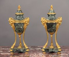 A Pair of Late 19th Century Louis XVI Bronze Mounted Cassolettes