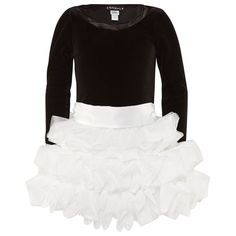 Black Velvet Ruffle Tulle Dress