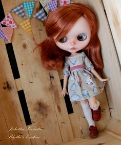 Blythe spring outfit: dress and stockings by juliettaexussetta on Etsy