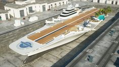 ArtStation - World's first Aircraft Carrier Yacht. Yacht Design, Boat Design, Twin Carrier, Navy Aircraft Carrier, Concept Ships, Armor Concept, Naval, Spaceship Design, Cool Boats