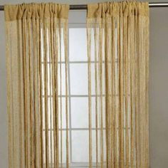 Polyester Gold Sparkle String Curtain