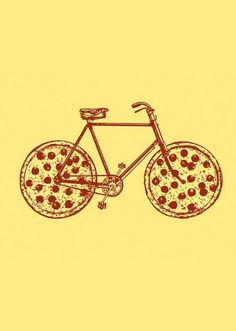 Image result for pizza and bikes