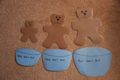 Totally Tots: Once Upon A Book: Goldilocks and the Three Bears; related math, craft, literacy and more