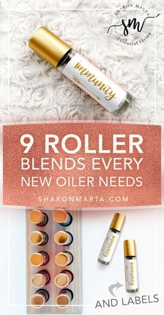 Every new oiler needs these 9 basic essential oil roller blends in their arsenal. I made some printable diy Rose Gold roller bottle labels that are completely editable. Edit the ingredients and title. Essential Oil Diffuser Blends, Doterra Essential Oils, Young Living Essential Oils Rollerball, Essential Oils Young Living Recipes Rollers, Essential Oils Labels, Diy Essential Oil, Arsenal, Diy Rose, Roller Bottle Recipes
