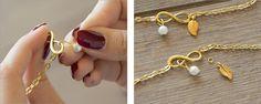 Schritt 04 : Perlen- und Blattanhänger befestigen