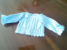 Jersey azul para Iñigo.  Hecho por María Landín.