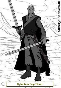 Kylan, portrait.  Protagonista de la novela de fantasía épica Ojos de Jade, de F. J. Sanz.  http://www.fjsanz.com