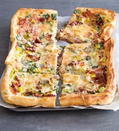 Recepty: Quiche s lučinou a rajčaty Diet Recipes, Healthy Recipes, Tasty, Yummy Food, Salty Cake, Gluten, Allrecipes, Quiche, Ham