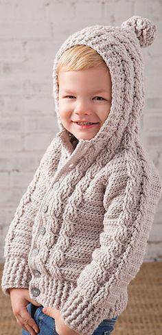 New Crochet Sweater Pattern Kids Baby Knits 51 Ideas Crochet Toddler Sweater, Crochet For Boys, Baby Knitting Patterns, Baby Patterns, Crochet Patterns, Knitting Ideas, Crochet World, Crochet Cable, Irish Crochet