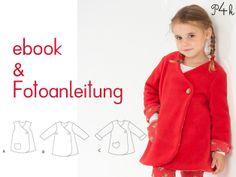 Schnittmuster Tunika od. Kleid Lena in 3 Varianten von pattern4kids - Schnittmuster für Baby- und Kinderkleider als ebook download mit Nähanleitung auf DaWanda.com