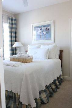 Makeover Monday The Guest Bedroom Plaid Bedroomwhite Bedroomblue