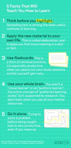 5 facts that will teach you how to learn