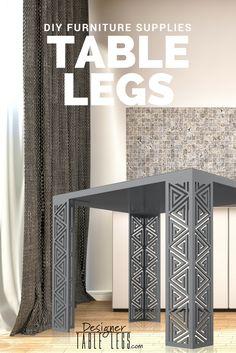 DesignerTableLegs.com   Silver Pharaoh Spiral Table Legs   DIY Furniture  Ikea Hacks