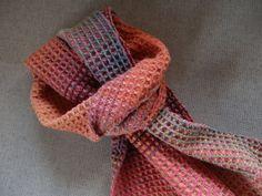waffle weave anemone scarf