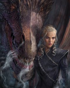 Daenerys Targaryen - Game of Thrones Dessin Game Of Thrones, Arte Game Of Thrones, Game Of Thrones Artwork, Game Of Thrones Fans, Drogon Game Of Thrones, Got Dragons, Mother Of Dragons, Queen Of Dragons, Winter Is Here