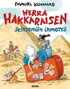 Herra Hakkaraisen Seitsemän ihmettä Children's Book Illustration, Book Illustrations, Typography Prints, Finland, Childrens Books, Illustrators, Taj Mahal, Fairy Tales, Baseball Cards