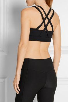 Black stretch-jersey Slips on 88% polyamide, 12% spandex Machine wash