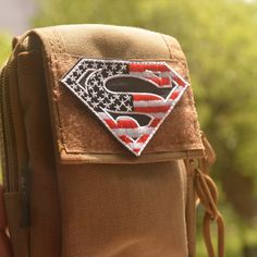 Superman Tactical Morale Patch Outdoor Camping Hiking Cycling Backpack Patch US USA National Flag Badge Embroidered Badge  #Affiliate