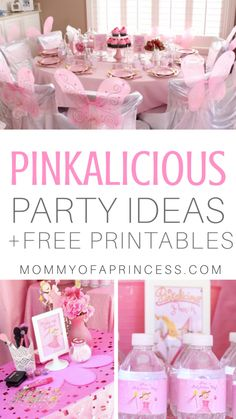 Pinkalicious Party Ideas and Free Pinkalicious Printables for Little Girl's Birthday. Including pinkalicious birthday party decorations, Pinkalicious birthday party ideas, Pinkalicious food ideas and Pinkalicious birthday printables 18th Birthday Party Themes, Girls 3rd Birthday, 50th Birthday Party Decorations, Fairy Birthday Party, Little Girl Birthday, Diy Party Decorations, Pink Birthday Food, Birthday Diy, Birthday Ideas
