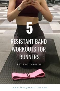 5 resistance band workouts for runners - Run With Caroline - Health and wellness: What comes naturally Flexibility Workout, Strength Workout, Fitness Tips, Health Fitness, Fitness Plan, Stretch Band, Strength Training For Runners, Sport Treiben, Lunge