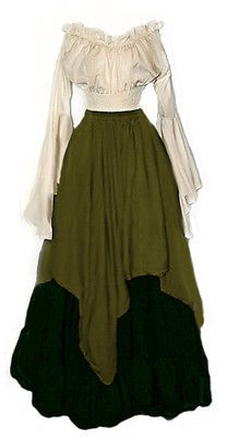 I-D-D Renaissance Medieval Peasant Wench Pirate Faire 3-Piece Costume 2+ Sale!