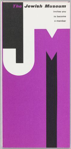 Membership Brochure, 1960s  by Elaine Lustig Cohen