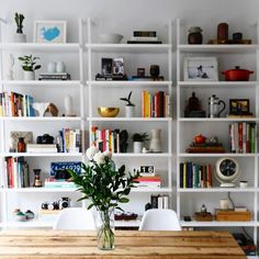 Room Crush Wednesday Contemporary Chic Colorful What Isnt Love The Stairway Mounted Bookcase With Link In Bio