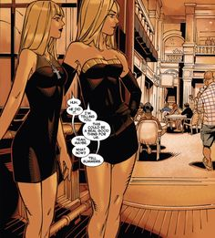 Illyanna and Emma dressed to kill by Chris Bachalo