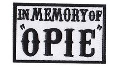 In Memory of Opie Outlaw  Anarchy Style outlaw iron by DiabloPatch