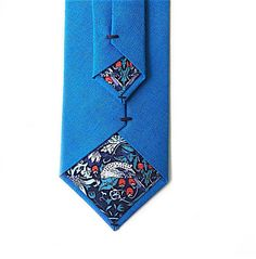 A personal favourite from my Etsy shop https://www.etsy.com/uk/listing/524856605/electric-blue-tie-with-liberty-print
