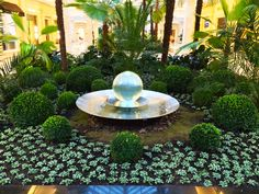 A very large Aqualens sphere fountain at a Russian Shopping Mall.