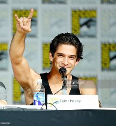 Actor Tyler Posey speaks onstage at MTV's 'Teen Wolf' panel during Comic-Con International 2015 at the San Diego Convention Center on July 9, 2015 in San Diego, California.