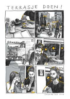 comic, pencil illustration