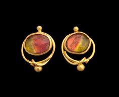 Watermelon tourmaline earrings Tourmaline Earrings, Gold Jewellery, Jewelry, Watermelon Tourmaline, Cufflinks, Stud Earrings, Accessories, Fashion, Ears