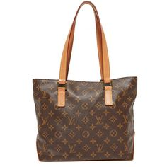 Pre-owned What Goes Around Comes Around Louis Vuitton Monogram... (€1.145) ❤ liked on Polyvore featuring bags, handbags, tote bags, lv print, brown tote purse, pattern tote bag, zip top tote bags, brown purse and brown tote