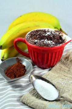 Mug cake Rezept Banane Schoko Tassenkuchen Mikrowelle Kuchen     Ihr braucht: 1 reife Banane, 1 Ei, 1 EL Milch, 1 EL Zucker, 2 EL ungesüßtes Kakaopulver, 1 Messerspitze Backpulver