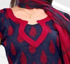 Cotton Churidar Suits Neck Gala Designs Patterns Images Catalog